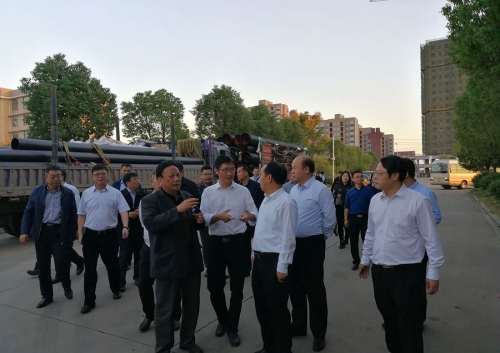 Vice Mayor of Ezhou City and the Party Division of Shuanghe City of the 5th Division of Xinjiang Corps visited our company